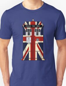 Union Jack Police Call Box. T-Shirt