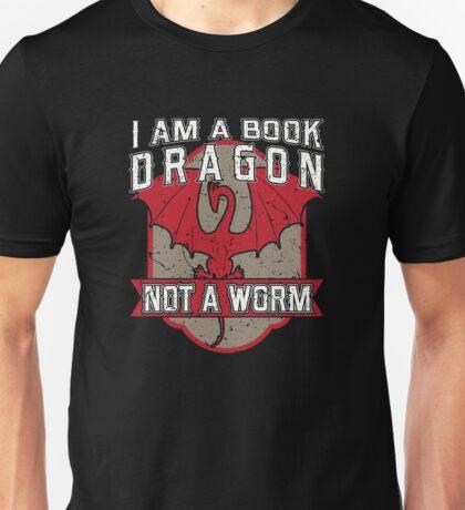 I am a book dragon not a worm Unisex T-Shirt