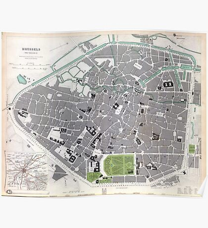 Plan of Brussels - 1837 Poster