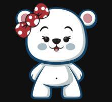 Polar Bear Girl Kawaii Kids Tee