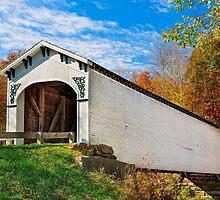 Richland Creek Covered Bridge by Kenneth Keifer