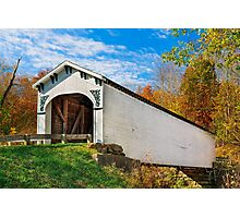 Richland Creek Covered Bridge Photographic Print