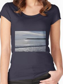 Lyme Regis Seascape - January Women's Fitted Scoop T-Shirt
