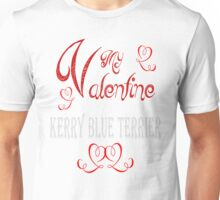 A Valentine Shirt with Kerry Blue Terrier Unisex T-Shirt
