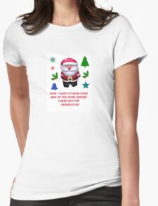 A SANTA CLAUS GREETING CARD  Womens Fitted T-Shirt