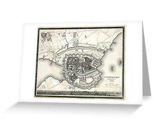 Plan of Copenhagen - 1844 Greeting Card