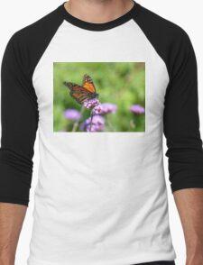 Autumn Beauty! - Monarch Butterfly - Otago - NZ Men's Baseball ¾ T-Shirt
