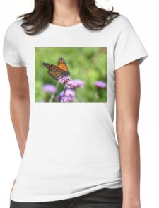 Autumn Beauty! - Monarch Butterfly - Otago - NZ Womens Fitted T-Shirt