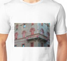 Red brick facade of building in Bologna, Italy Unisex T-Shirt