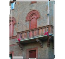 Red brick facade of building in Bologna, Italy iPad Case/Skin