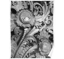 balinese carving Poster