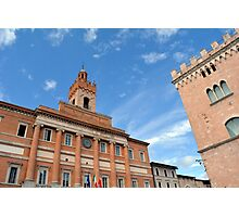Important buildings in Foligno, Italy Photographic Print
