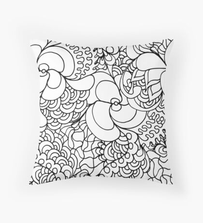 Abstract zen pattern Throw Pillow