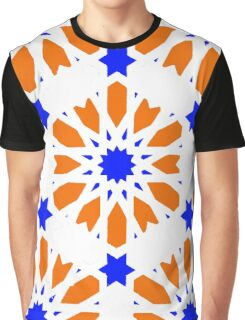 Geometrical Floral Decor Graphic T-Shirt