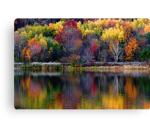Autumn Sprinkle at Rose Valley Lake Canvas Print