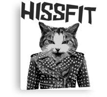 Hissfit Rebel Misfit Kitty Cat Canvas Print