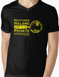 Matches Malone Investigations Mens V-Neck T-Shirt