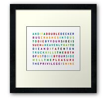 The Smiths - There is a light that never goes out Framed Print
