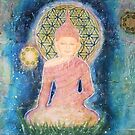 Flower of life Buddha - Close up by Lilaviolet