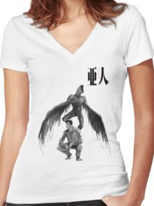 Ajin fly Women's Fitted V-Neck T-Shirt