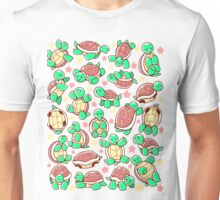 Adorable turtle pattern all over Unisex T-Shirt