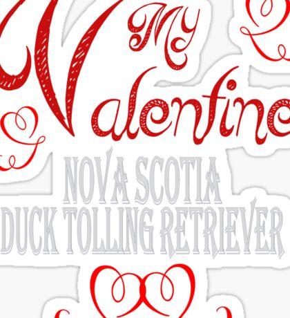 A Valentine Shirt with Nova Scotia Duck Toller Sticker