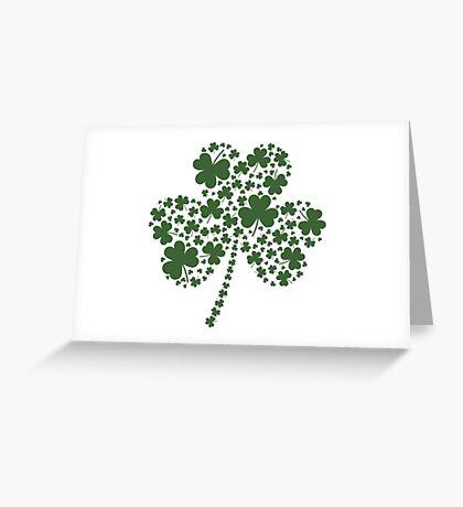 St Patrick's Day Irish Shamrock Clover Greeting Card