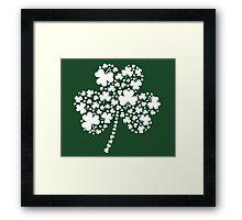 St Patrick's Day Irish Shamrock Clover Framed Print
