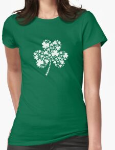 St Patrick's Day Irish Shamrock Clover Womens Fitted T-Shirt
