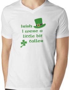Irish I Were A Little Bit Taller St Patrick's Day Mens V-Neck T-Shirt