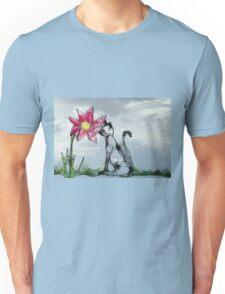 ScribblerFlower with Cat Unisex T-Shirt