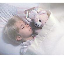 Keeping My Teddy Bear Safe. Photographic Print