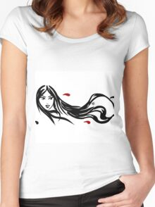 Asian wind Women's Fitted Scoop T-Shirt