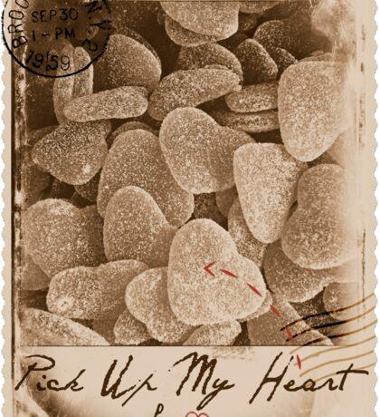 Pick Up My Heart (Sepia) Sticker
