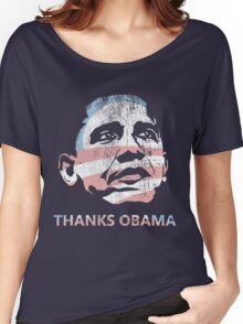 thanks obama last day as president Women's Relaxed Fit T-Shirt