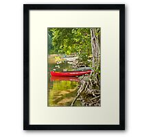 The Red Canoe on Buttermere Framed Print