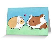 Guinea-pig Sweethearts #2 Greeting Card