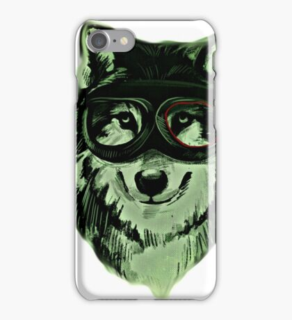 Wolf Hipster ANimal Wolves iPhone Case/Skin