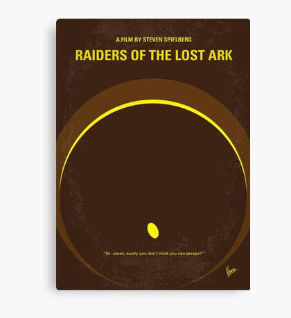 No068 My Raiders of the Lost Ark minimal movie poster Canvas Print
