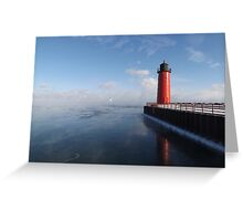 Lighthouse and Sea Smoke Greeting Card