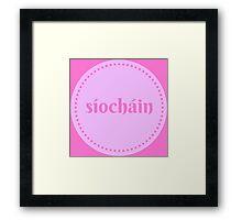 """Síocháin """"Peace"""" Framed Print"""