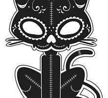 Sugar Skull Kitty by Joe Norman