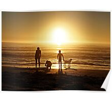 Sunset on Scarborough Beach Poster