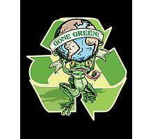 Gone Green Earth Day Frog Photographic Print