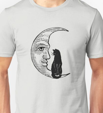 Cat Sitting on the Moon Unisex T-Shirt