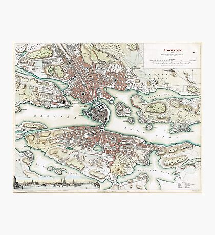 Plan of Stockholm - 1836 Photographic Print