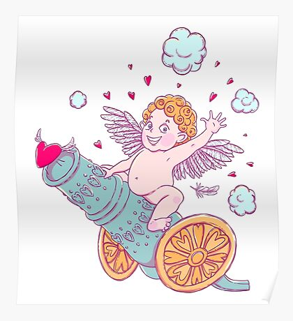 Valentine's day. Funny Cupid-boy Poster