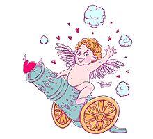 Valentine's day. Funny Cupid-boy Photographic Print
