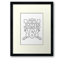LEBRON JAMES 6 Framed Print