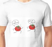 tomatoes running to ketchup  Unisex T-Shirt